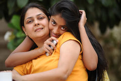 Loving mother with daughter. Happy mother and daughter outdoors Stock Photography