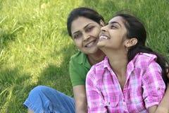 Loving Mother Daughter Enjoying In Park Royalty Free Stock Photos