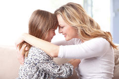 Loving mother-daughter relationship Stock Image