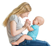 Loving mother having fun with her baby boy Royalty Free Stock Photo