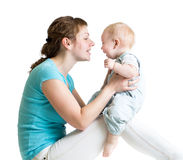 Loving mother having fun with her baby Royalty Free Stock Images
