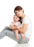 Loving mother with her baby Royalty Free Stock Image