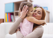 Loving mother with her baby girl Royalty Free Stock Photos