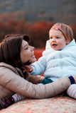 Loving mother with her daughter outdoors Royalty Free Stock Photos