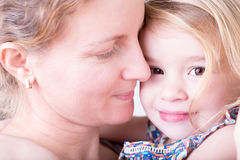 Loving mother with her little daughter Royalty Free Stock Photo
