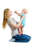 Loving mother holding baby boy Royalty Free Stock Photo