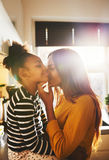 Loving mother kissing child Royalty Free Stock Image
