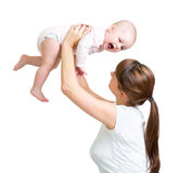 Loving mother playing with her baby Royalty Free Stock Photography