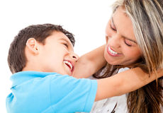 Loving mother and son Royalty Free Stock Photos
