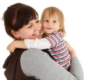 Loving mother with son in her arms Royalty Free Stock Images