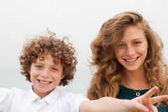 Loving mother and son playing Stock Photos