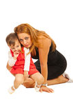 Loving mother and toddler girl Stock Photography