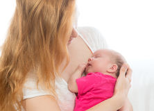 Loving mother woman and her child baby girl Royalty Free Stock Photos