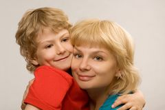 Loving mum and the son Royalty Free Stock Photos
