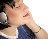 Loving music royalty free stock photo