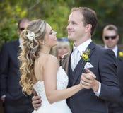 Loving newlyweds Stock Image