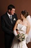 Loving newlyweds Royalty Free Stock Photography