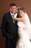 Loving newlyweds Stock Images