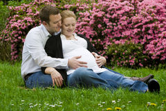 Loving parents expecting baby Royalty Free Stock Image