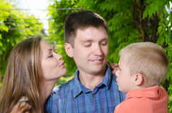 Loving parents with son Stock Images