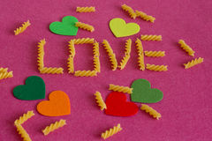 Loving pasta Stock Image