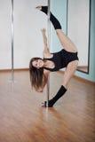 Loving pole fitness class Stock Photo