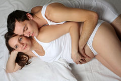 Loving pregnant couple Stock Photography