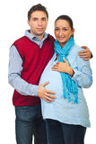 Loving pregnant young couple Stock Photography