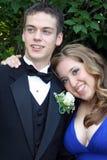 Loving Prom Couple Portrait Stock Images