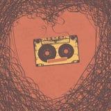 Loving retro music retro poster design. Vector, EPS10 Royalty Free Stock Photo