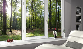 Loving room in the woods Stock Photo