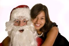 Loving santa Royalty Free Stock Image