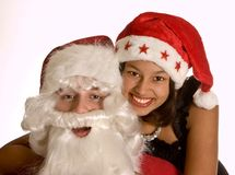 Loving santa Royalty Free Stock Photos