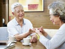 Loving senior asian couple Stock Image