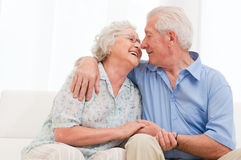 Loving senior couple Stock Photography