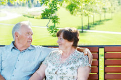Loving senior couple Royalty Free Stock Photos