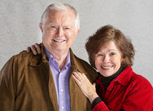 Loving Senior Couple Stock Images