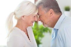 Loving senior couple. At home Stock Photos