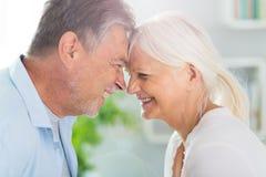 Loving senior couple. At home Stock Image