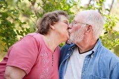 Loving Senior Couple Outdoors Royalty Free Stock Image
