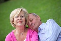 Loving senior husband and wife Stock Photo