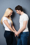Loving sentimental young couple Royalty Free Stock Photos
