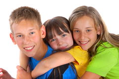 Loving siblings Stock Image