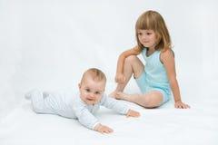 Loving siblings Stock Photo