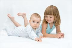 Loving siblings Royalty Free Stock Photo