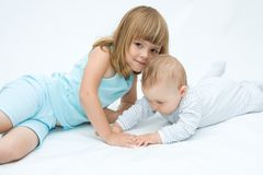 Loving siblings Stock Photography