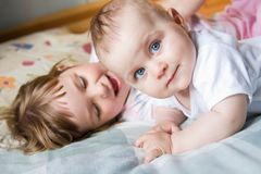 Loving siblings Stock Image