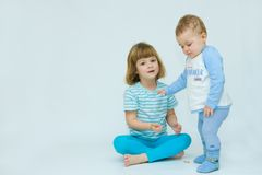 Loving siblings Royalty Free Stock Images