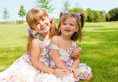 Loving sisters Stock Image