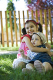 Loving sisters Stock Images